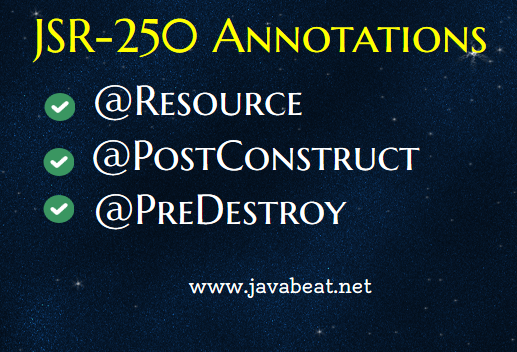 JSR-250 Annotations Example