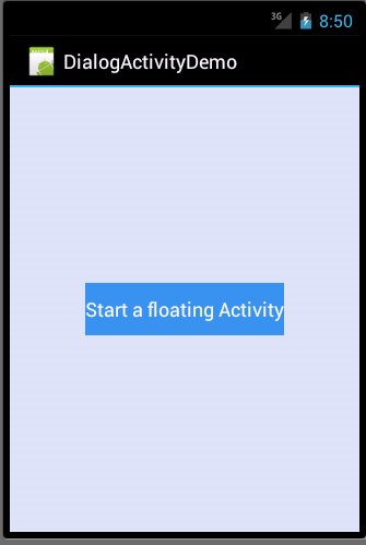 Dialog activity in Android Example - 2 - parentdialog