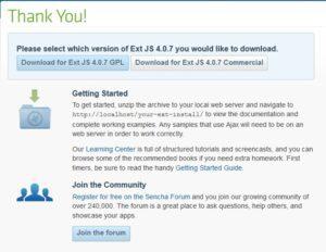 Ext JS Download