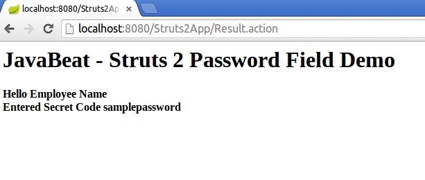 struts2 password tag example output