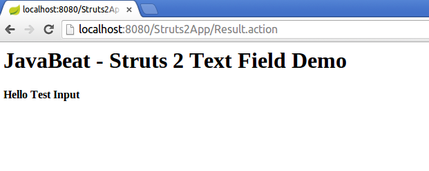 struts2 textfield tag example output