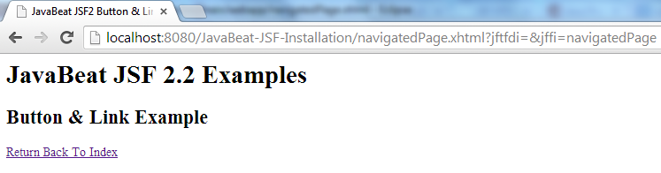 JSF 2 Button & Link Example 2