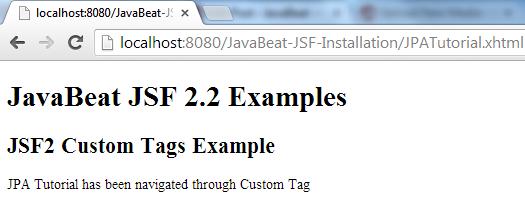 JSF 2 Custom Tag Example 2