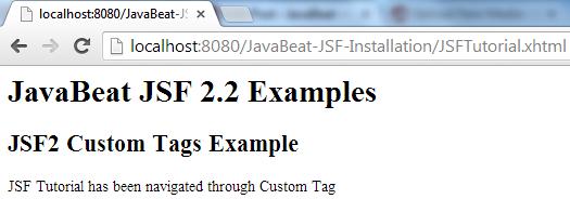 JSF 2 Custom Tag Example 3