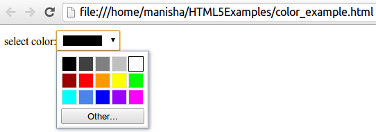 HTML5 Color Input Type