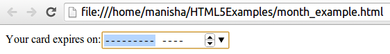 HTML5 Month Input Type