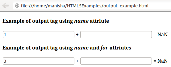 HTML5 Output Tag3