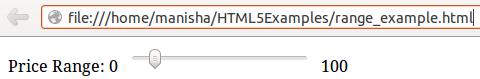 HTML5 Range Input Type