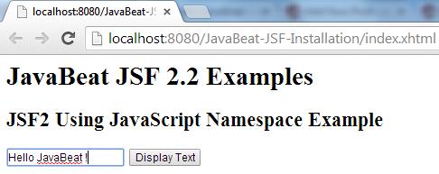 JSF 2 JavaScript Namespace Example 1