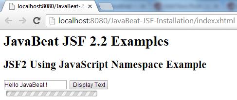 JSF 2 JavaScript Namespace Example 2