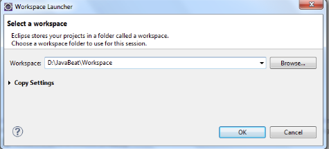 eclipse open workspace