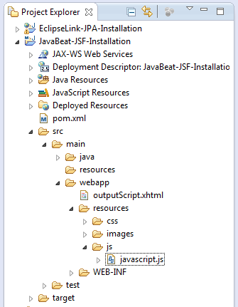 JSF 2 outputScript Example 2