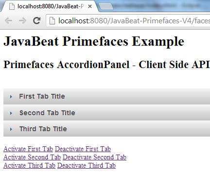 Primefaces AccordionPanel Client Side API
