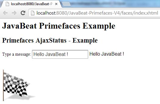 Primefaces AjaxStatus Complete Phase