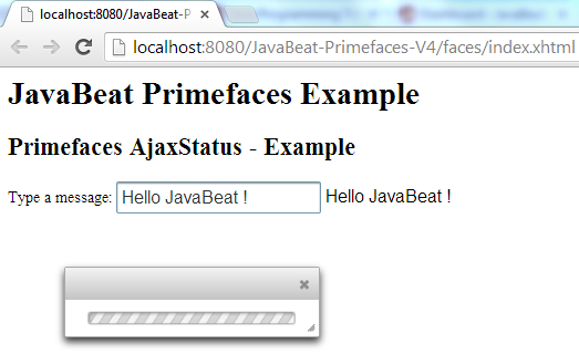 Primefaces AjaxStatus Programmatic Way