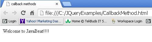 JQuery Callbacks - Add and Fire Methods