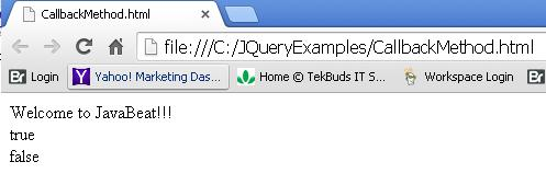 JQuery Callbacks - Empty and Has Methods