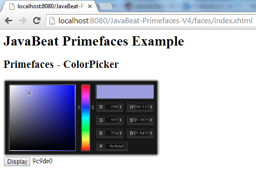 ColorPicker Demo
