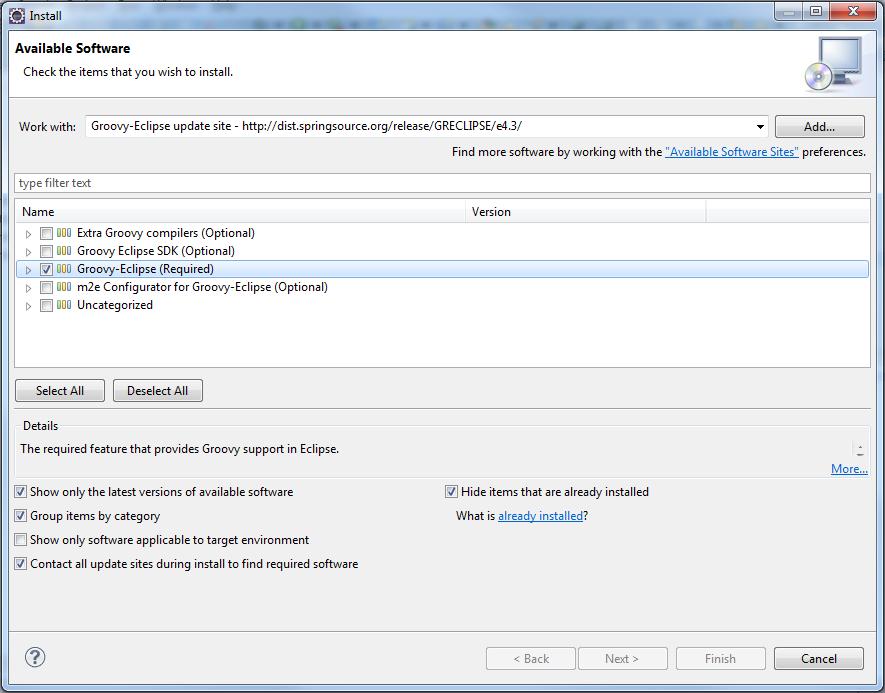 Groovy Eclipse IDE - Download Groovy Plugin