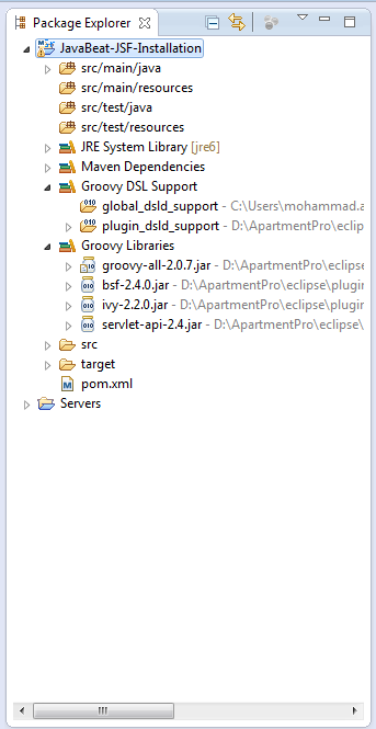 JSF 2 Groovy Added Libraries