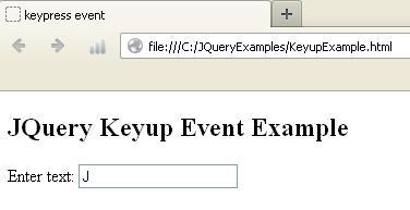 KeyupExample