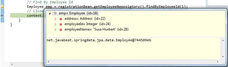 Spring Data Employee Entity