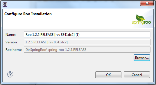 Configure Roo Installation