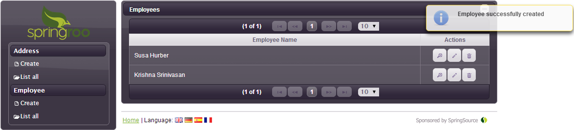 MongoDB Added Employee Successfully