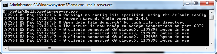 how to create database in redis server