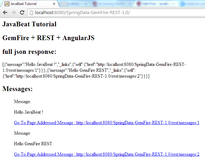 Spring REST GemFire AngularJS Demo