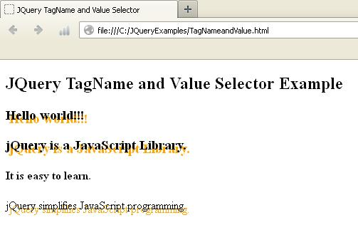 JQuery Get Tag Name Example