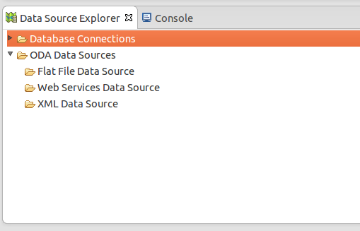 Open Data Source Explorer in Eclipse View