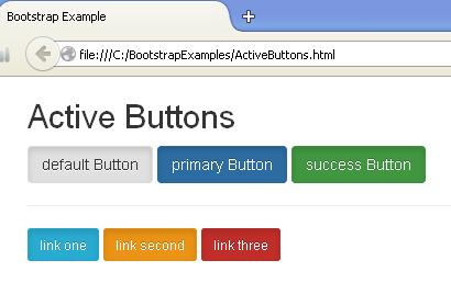 Active Buttons Example