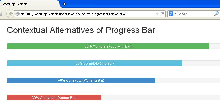 Bootstrap Alternative Progress Bars Example