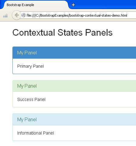 Bootstrap panels for Bootstrap table title
