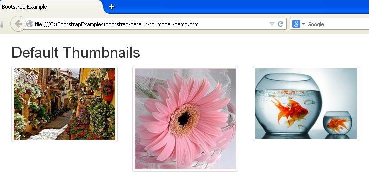 Bootstrap Default Thumbnail Example