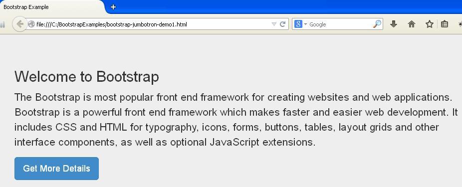 Bootstrap Jumbotron demo1 Example