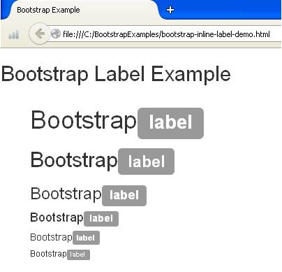 Bootstrap Label Example