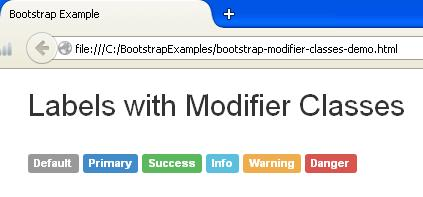Bootstrap Labels Modifier Classes Example