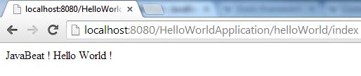 Grails - HelloWorld View