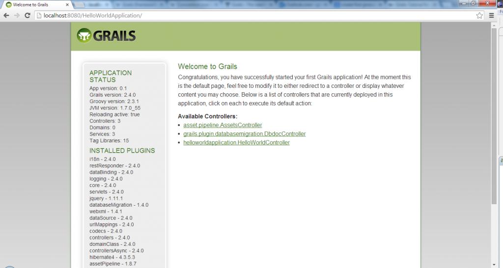 Grails - Main Page