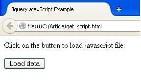 JQuery ajaxgetScript Example1