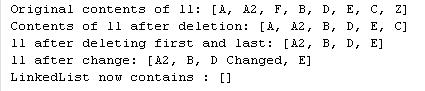 Java LinkedList Methods Example