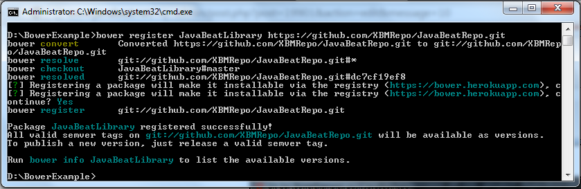 JavaBeatLibrary Registered Successfully