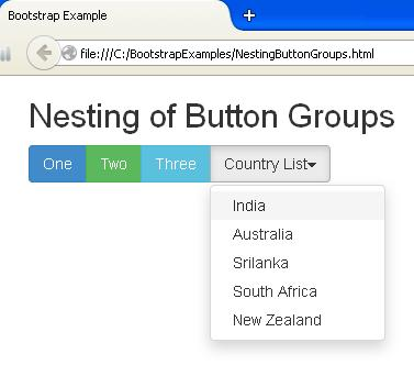 Bootstrap Nesting Button Groups Example