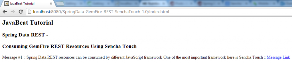 Sencha Touch - Consuming GemFire Repository Through of Spring REST Demo