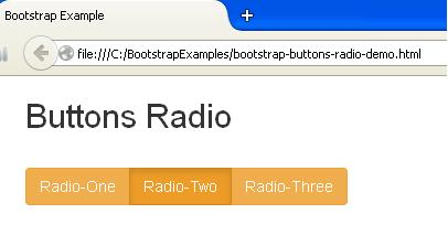 Bootstrap Button Radio Example