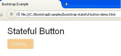 Bootstrap Stateful Button Example