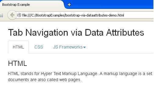 Bootstrap Tabs via DataAttributes Example
