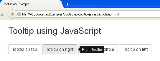 Bootstrap Tooltip JavaScript Example